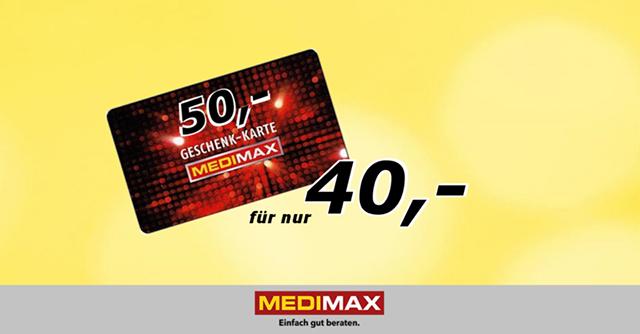 [Dortmund] MediMax 20% auf Gutscheinkarten am 14.01.