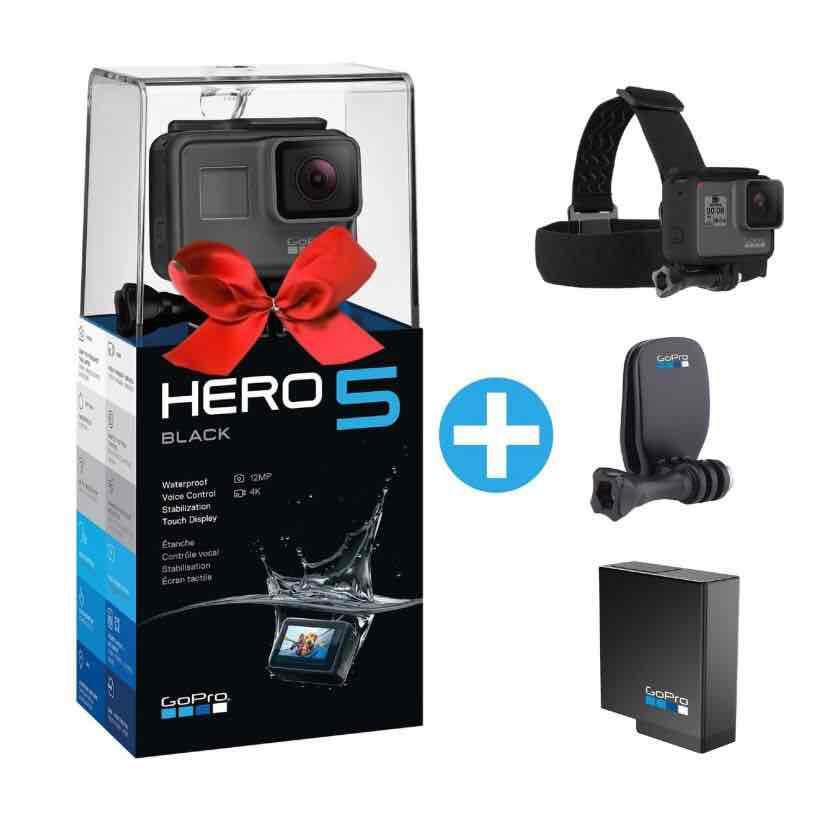[Cyberport] GoPro HERO5 Black Action Cam inklusive Kopfband und Ersatzakku 415€ + Versand 4,99€ (statt 435,94€ inkl. Versand bei Otto)