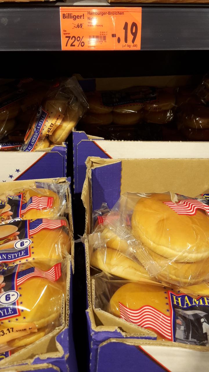 [Kaufland lokal Bad Kreuznach] Burgerbrötchen (Buns) für 0,19 EUR pro 6er Pack