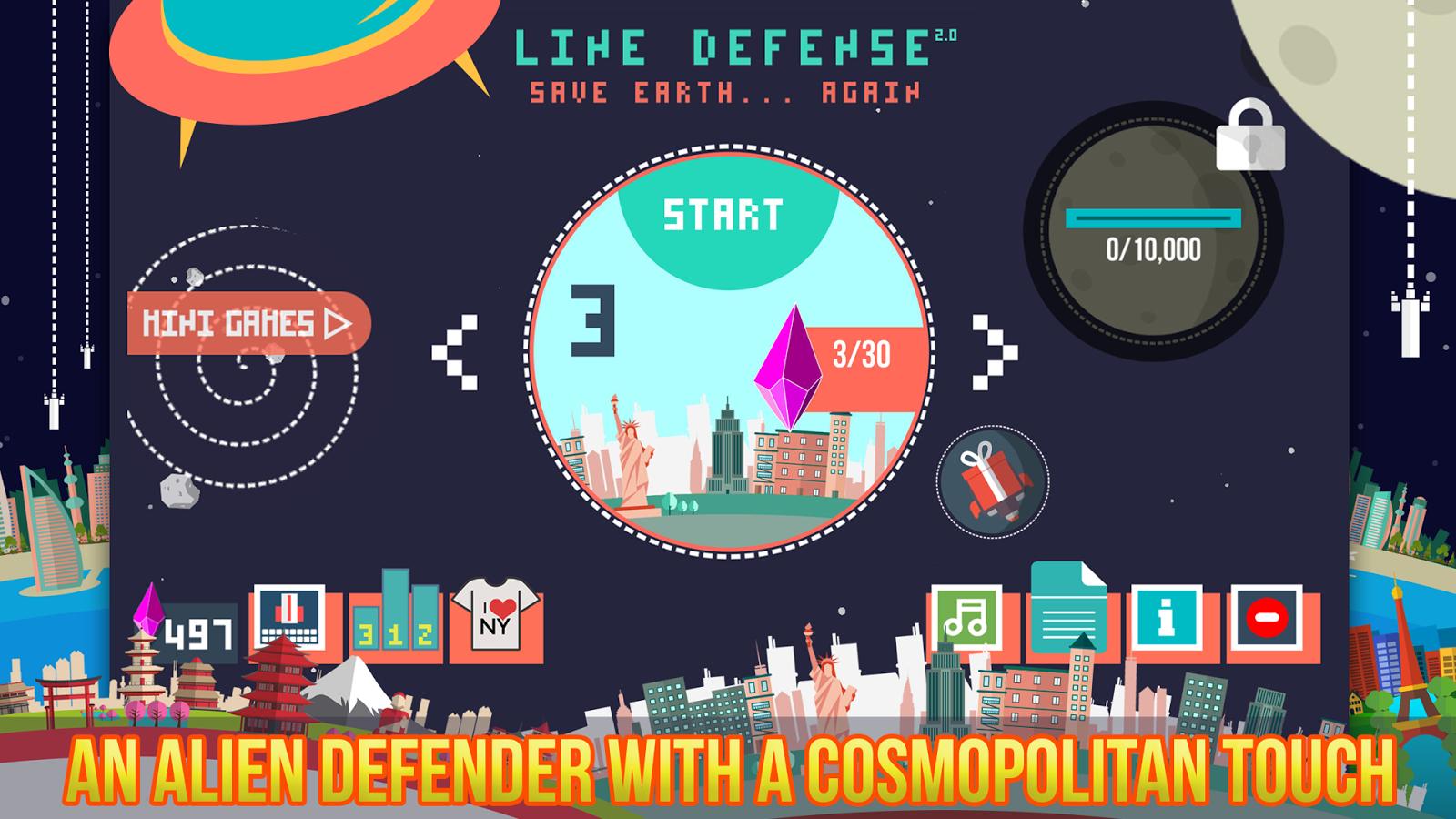 """Android: """"Line Defense"""" heute werbefrei mit 50 Kristallen gratis statt 1,55 €"""