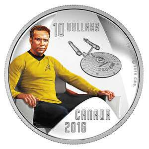 Captain Kirk STAR TREK Silbermünze Canada als Ebay-Wow-Angebot