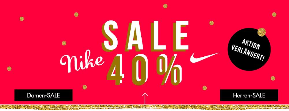 3 Tage noch! 40 % SALE auf NIKE bei der [my-sportswear.de]. Alle Nike Artikel direkt reduziert! Schuhe, Textilien, Taschen... KEIN Mindestbestellwert