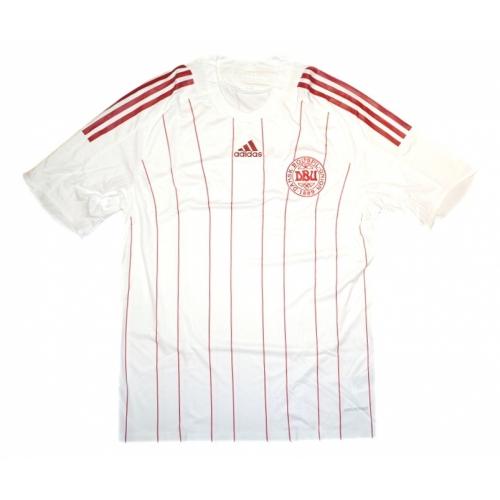 adidas Dänemark Away Trikot kurzarm weiß 08/09 (Nur Größe XL)