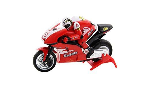 XciteRC 34000100 - Ferngesteuerter RC Motorrad Mini-Racebike RTR 2.4 GHz, rot