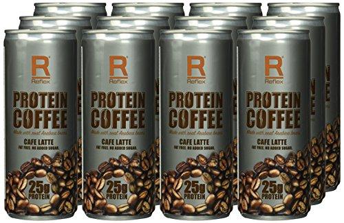 Amazon Prime: Reflex Nutrition Protein Coffee - Café Latte, 12 Dosen x 250 ml