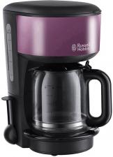 [Digitalo] Russell Hobbs Kaffeemaschine Schwarz, Purpur Fassungsvermögen Tassen=10 Glaskanne