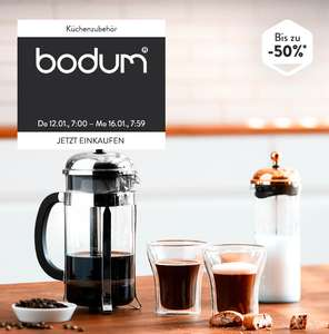 But first, coffee! Bis zu 50% Rabatt auf Kaffeebereiter etc. von Bodum bei brands4friends