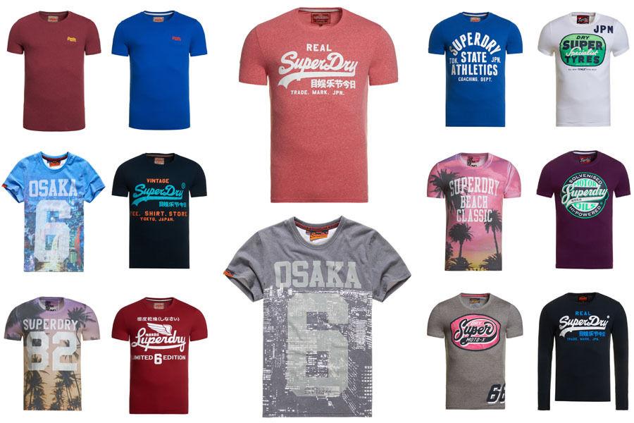 Herren Superdry T-Shirts versch. Modelle und Farben