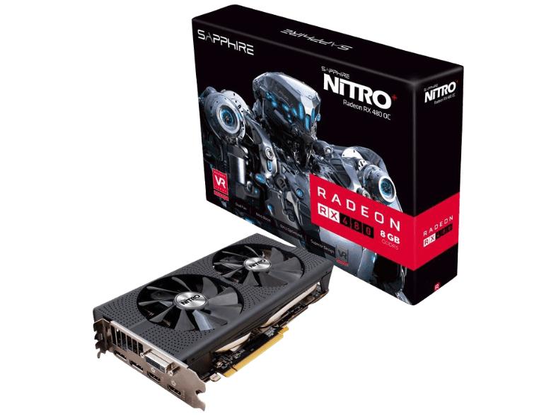 Sapphire Nitro+ Radeon RX 480 8G D5 mit 8GB GDDR5 für 241,50€ inkl. Versand nach DE [Mediamarkt.at]