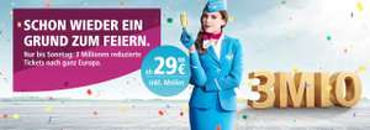 [Eurowings] 3 Mio. Flüge im Sale ab 16,99€