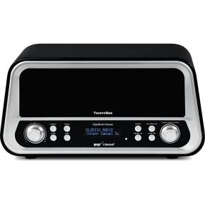 [NBB] TechniSat DigitRadio Classic (schwarz) - DAB+ im Retro-Design (30 W RMS, DAB+, Bluetooth, USB)