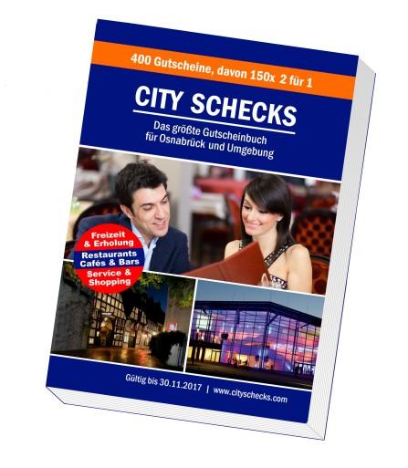 Über 400 Gutscheine ab 17,95€ mit City Schecks 2017 (Lokal Osnabrück und Umgebung)