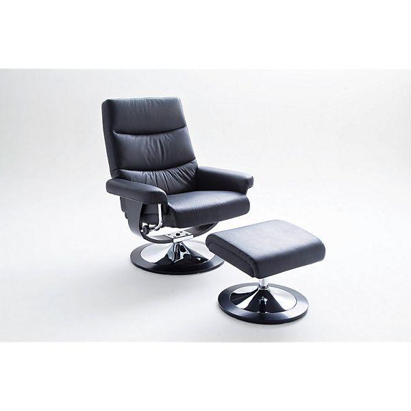 MCA Relaxsessel Cedar, belastbar bis 130 kg (plus.de), Kontaktflächen aus Echtleder