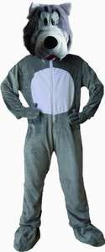 Dress Up America 596-T4 - Wolf Kostüm, 3-4 Jahre, Taille 69 cm, Größe 97 cm, grau