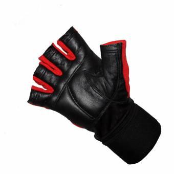 Leder Fitnesshandschuh mit Handgelenkbandage für 8,95 € bei Fitworld24