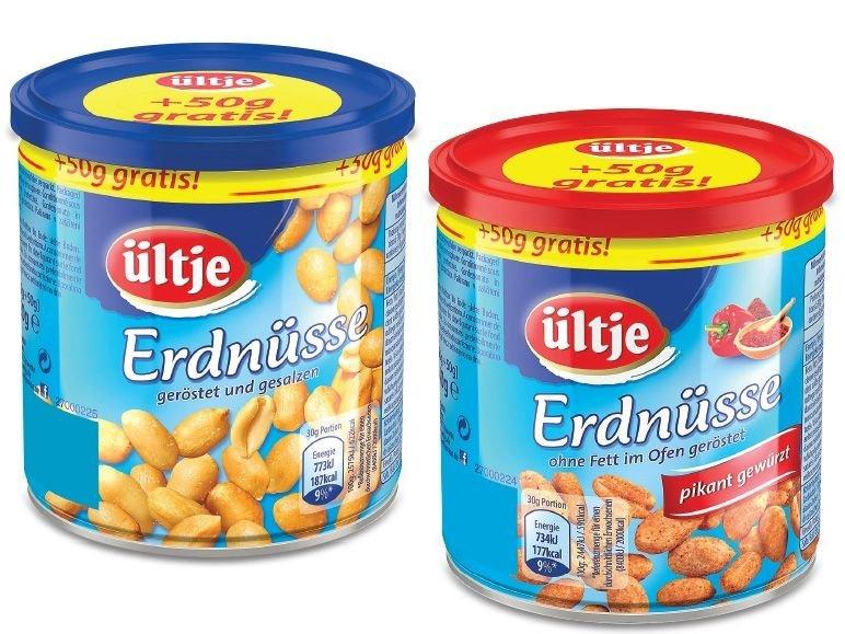 ültje Erdnüsse 21% billiger und zusätzlich 50g gratis für nur 1,49€ @Penny