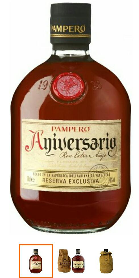 Pampero Aniversario Reserva Exclusiva Rum im Lederbeutel (1 x 0.7 l)+Jules Mumm kostenlos dazu [nur in Berlin]