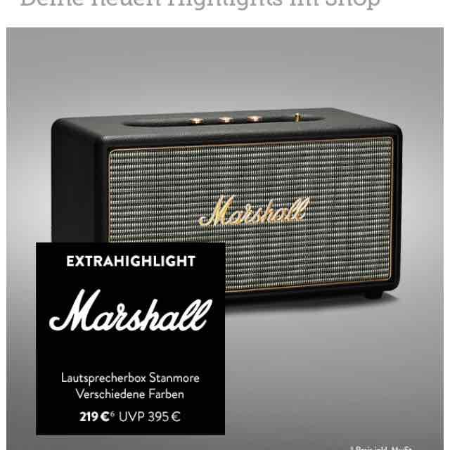 Marshall Stanmore Black für 219,-€