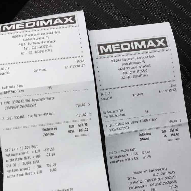 MEDIMAX Dortmund Apple Iphone 7 32GB