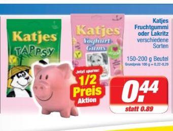 [Edeka Rhein-Ruhr] Katjes Fruchtgummi / Lakritz 175-200g für 0,44€