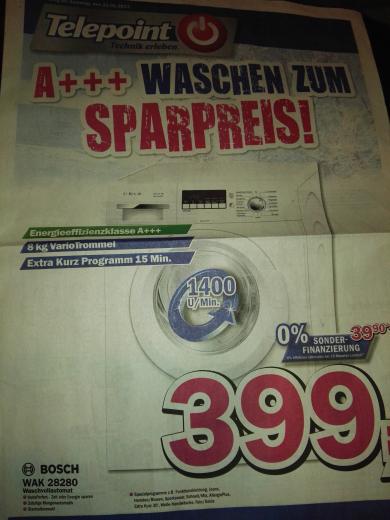 (Lokal Telepoint Oldenburg) Bosch Waschmaschine