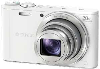 SONY DSC-WX 350 W.CE3 Kompaktkamera Weiß, 18.2 Megapixel, 20x opt. Zoom, TFT-LCD, WLAN