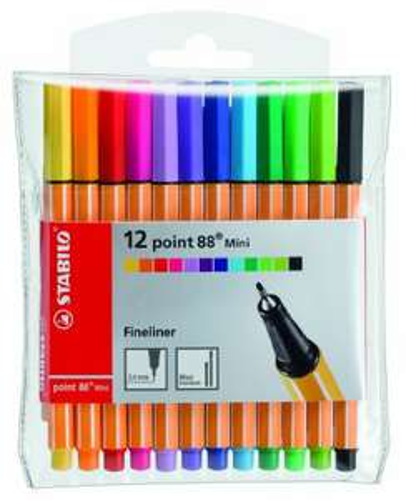 [Amazon] STABILO point 88 Mini 12er Etui - Fineliner