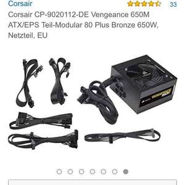 Corsair Venegeance V650M 650W  Netzteil