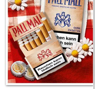 Pall Mall ohne Zusätze - kostenloses Päckchen Kippen (neue Aktion)