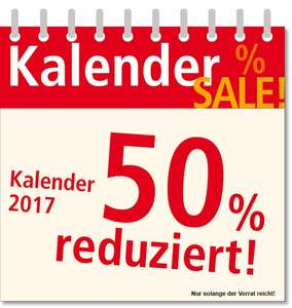 Kalender-Sale bei Weltbild