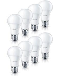 8er Pack Philips Dimmbar LED-Lampen 6W erstzt 40Watt E27 2700K Warmweiß 470lm A+ für 17,99€