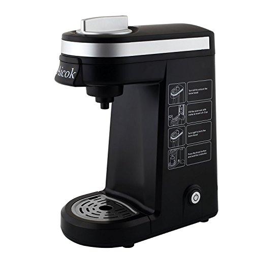 Amazon Aicok Kaffeefiltermaschine Kompakte Einzeltassen Kaffeemaschine, Schwarz