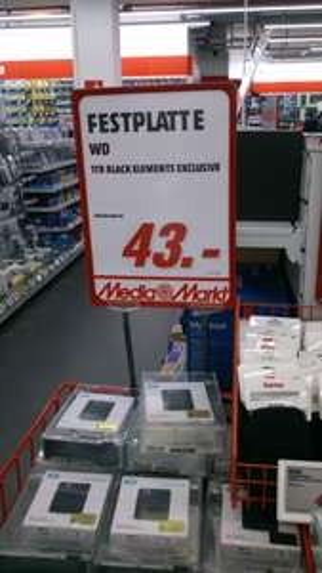 [Lokal] Western Digital Elements externe Festplatte 2.5 HHD 1TB  Berlin Alexanderplatz