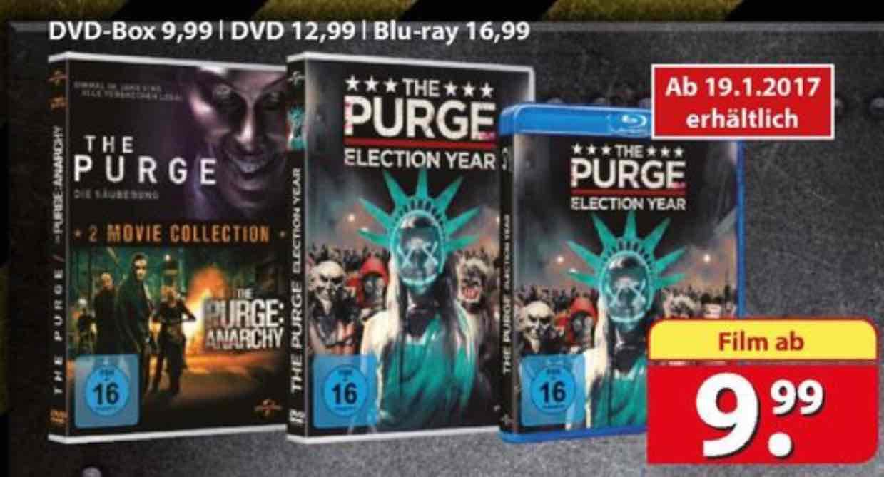 The Purge 1 + 2 auf DVD für 9,99€ @[Famila]