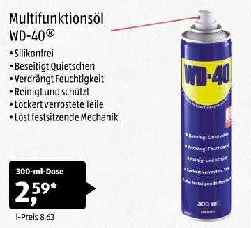 [Aldi Süd] 300ml Dose Multifunktionsöl WD-40 für 2,59€