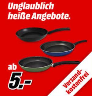 Media Markt Sonderverkauf Pfannen ab 6€