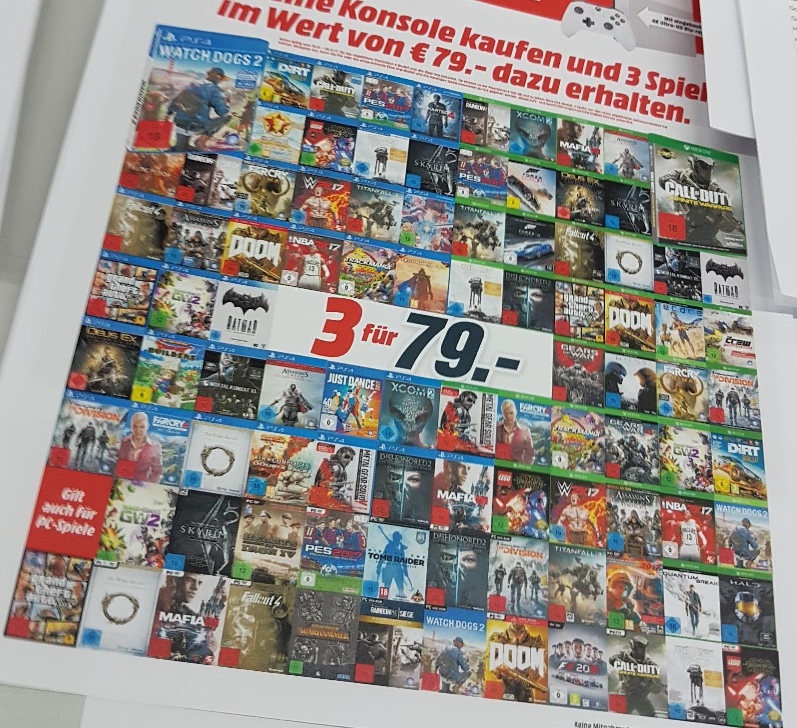 3 Games für 79€ bei mediamarkt.de