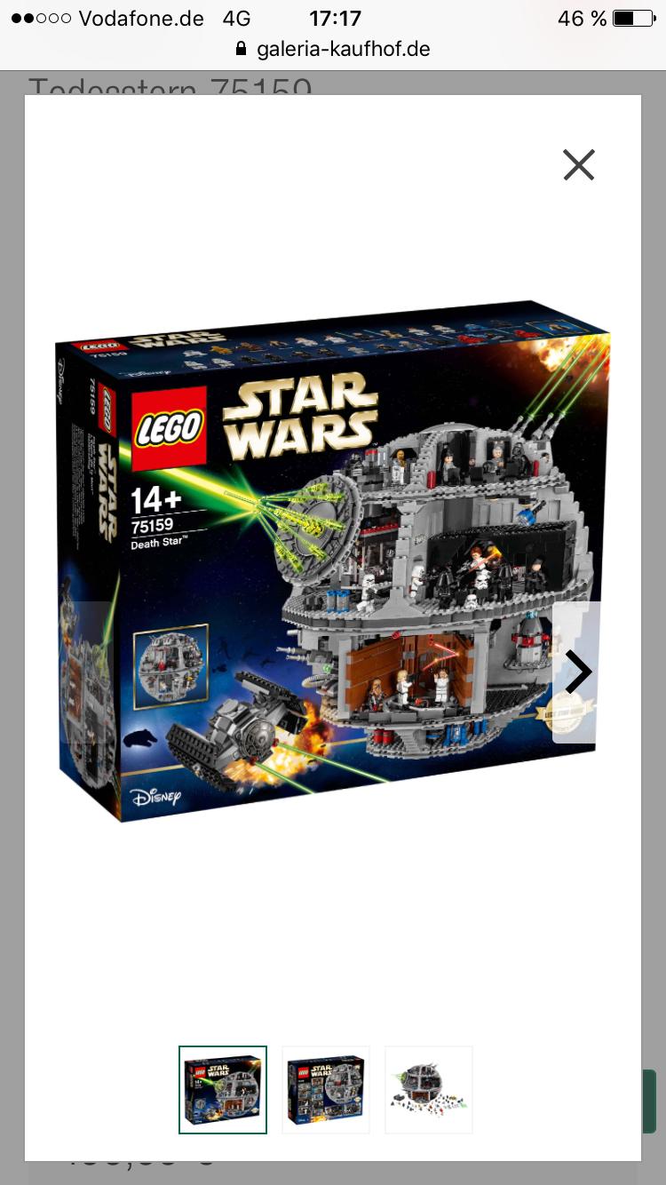 10%+PB Punkte Lego Exklusive Sets zB Star Wars Todesstern erstmals bei Galeria Kaufhof