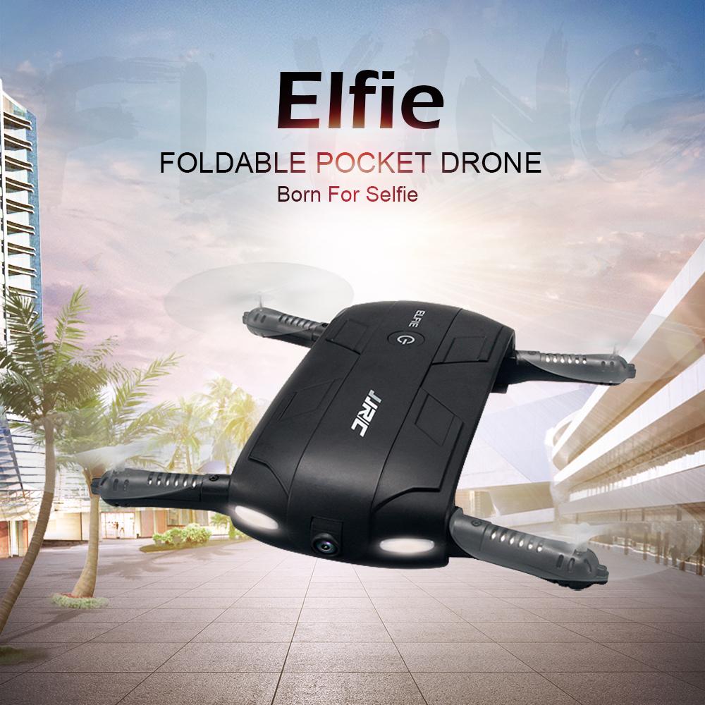 JJRC H37 6-Axis Gyro ELFIE WIFI FPV 0.3MP Camera Quadcopter Foldable G-sensor Mini RC Selfie Drone zum Bestpreis