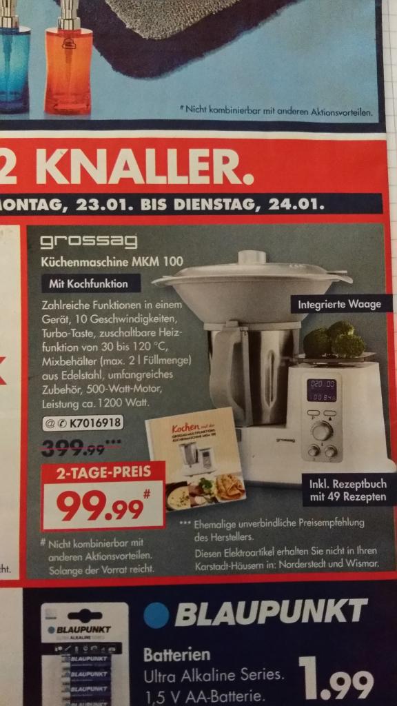 [Karstadt] Thermomix Imitat für 99,99 EUR