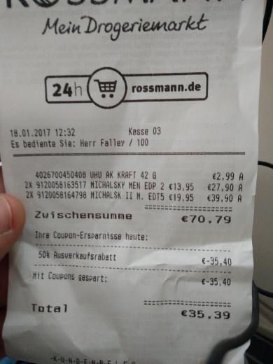 Rossmann Jena 50% Rabatt auf fast Alles!