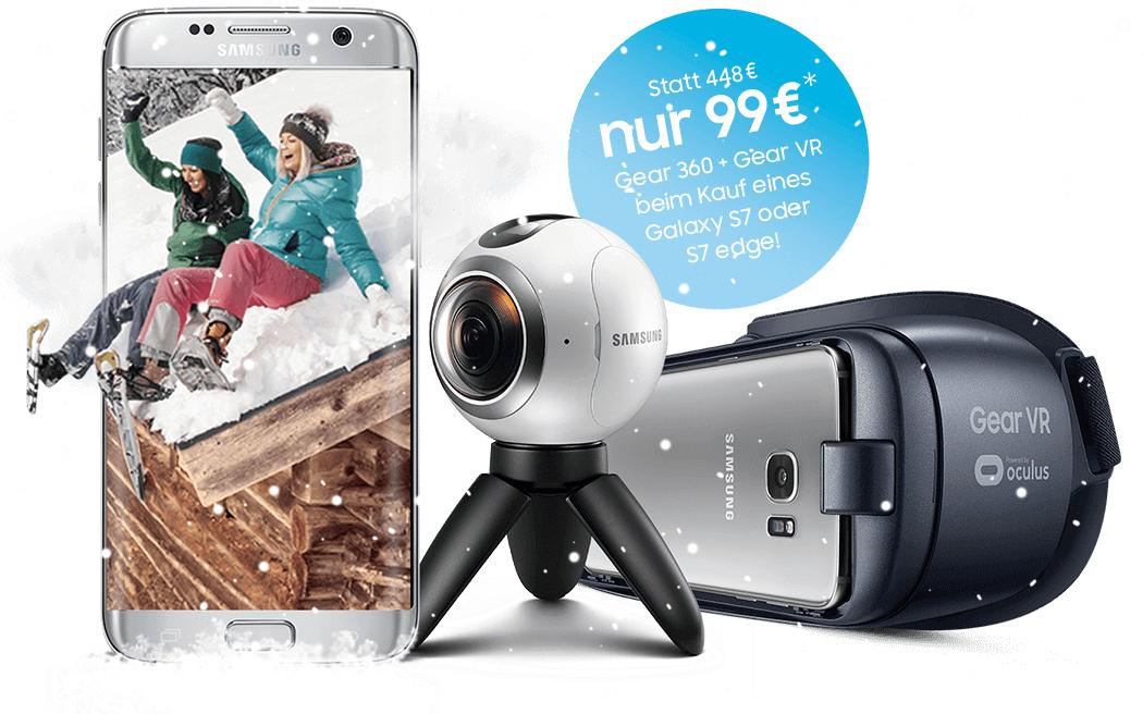 Samsung Rundumpaket für 360° Spaß • Gear VR + Gear 360 für 99€ beim Kauf eines S7/S7 Edge