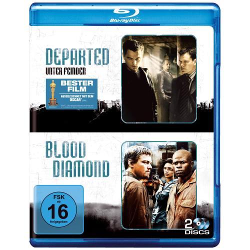 [Blu-ray] Departed - Unter Feinden + Blood Diamond (2 Discs) für 9,95€ inkl. Versand @Amazon