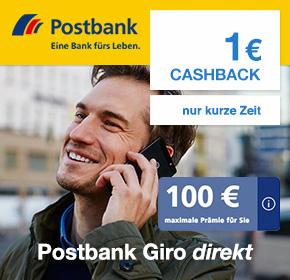 Postbank Giro Direkt mit 2x50€ BestChoice Gutscheinen + 1€ Cashback mit wenig Aufwand [nur Neukunden]