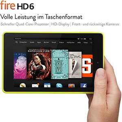 Fire HD 6, 15,2 cm (6 Zoll), HD-Display, WLAN, 8 GB (Limone)