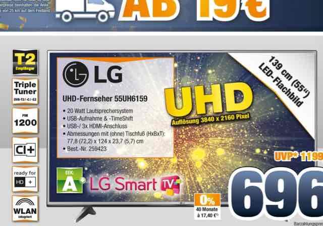 [Lokal Expert Bening] LG 55uh6159 4K Fernseher