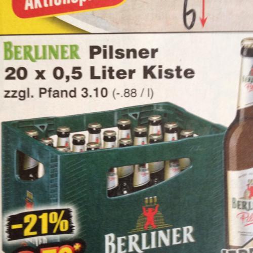 Berliner Pilsner Kasten für 8,79 Euro bei Netto Marken-Discount