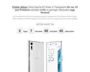 Schutzhülle für Sony Xperia XZ in Transparent für -1 Euro