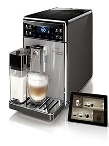 Saeco HD8967/01 GranBaristo Avanti Kaffeevollautomat, Appsteuerung, integrierte Milchkaraffe, silber [Blitzdeal]