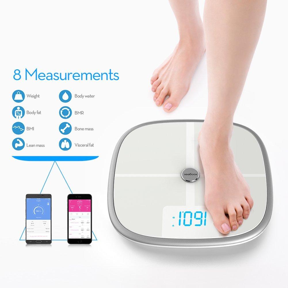 Koogeek Bluetooth Wi-Fi Smart Körperwaage Body - Analyzer mit APP für 42,39 € statt bisher 66,99€